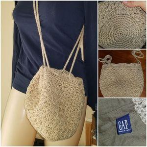Gap crochet hobo circular bag purse satchel sack